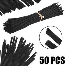 50 шт. черный ароматический масляный диффузор из ротанга палочки тростник сменная палочка для домашнего ароматного диффузора набор декора