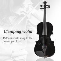 1/8 Splint Light Acoustic Violin Fiddle Case Bow Rosin Musical Instrument With Case Mute Bow 4 String Instrument For Beiginner