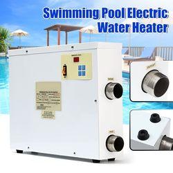 220V calentador de agua eléctrico 9000W termostato Digital de la piscina y SPA piscina de bañera 9KW equipos de calefacción para la natación de invierno