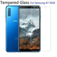 9h vidro temperado para samsung galaxy a7 2018 protetor de tela película protetora para samsung galaxy a7 2018 2.5d proteção