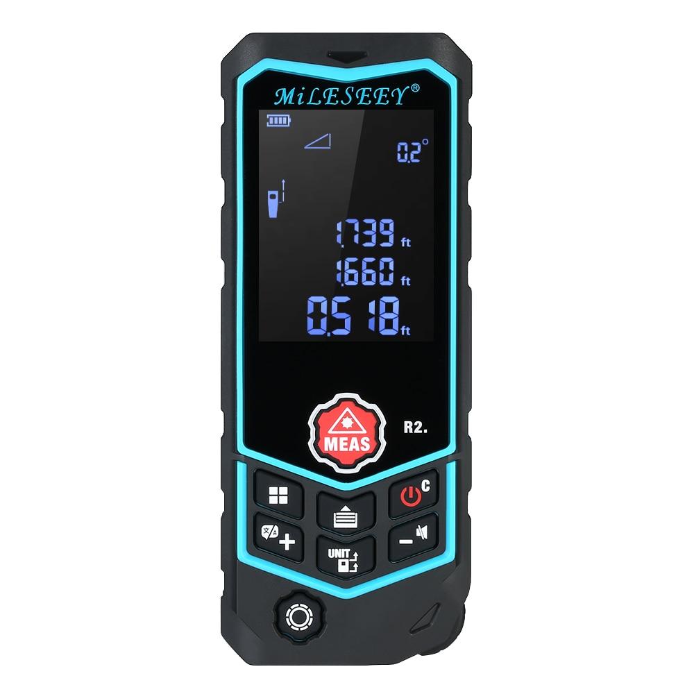 MiLESEEY Laser Distance Meter Handheld Digital Portable Rechargeable Range Finder Diastimeter Measure Roulette Rangefinder