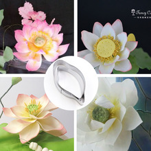 5/6cm Stainless Steel Cutting Mold Designer DIY Polymer Clay Flower Home Decoration Lotus Petal Clay Cutter Tools 11pcs set designer diy handmade 3d polymer clay rose flower petal leaf cutting mold clay tools