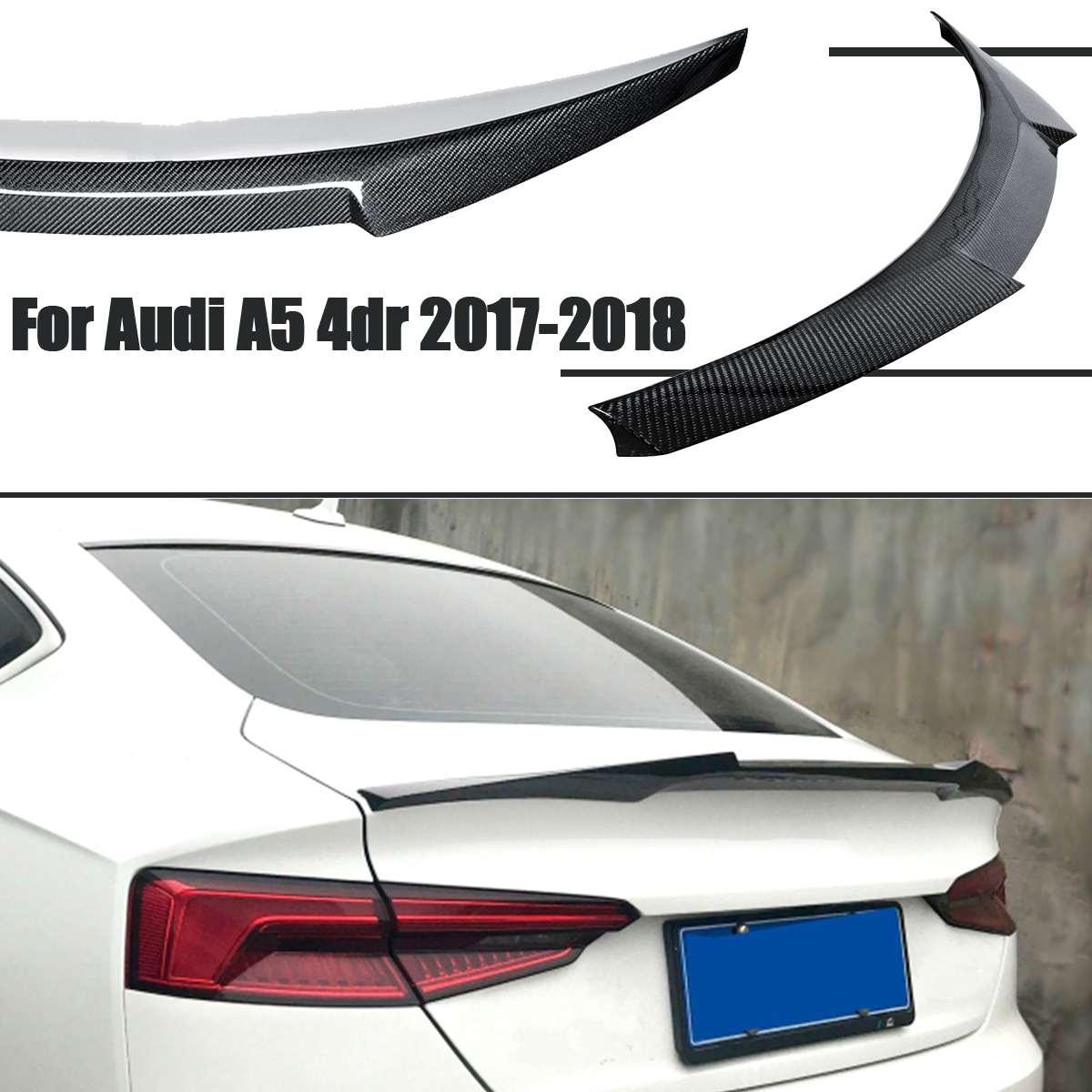 Aileron de coffre arrière en Fiber de carbone véritable pour Audi A5 F5 Sportback 4 portes 2017-2018 M4 Style couvercle de coffre