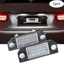 1 x Car 12V 24 LED Plate Light Exterior Lamps License Plate Light Car Lamp For Ford Focus(China)