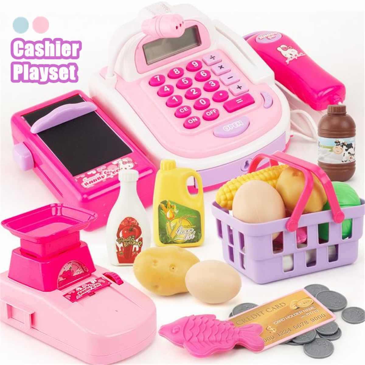 Plastic Mini Gesimuleerde Supermarkt Kassa Rol Kids Kassa Kassier Pretend Play Kinderen Vroege Educatief Speelgoed