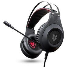 FFYY-Nubwo N2 3,5 мм игровая гарнитура PC Gamer бас наушники с микрофоном для PS4 телефон N2U USB Игровые наушники с светодиодный для вычисления