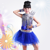 New Sequined Jazz Dance Clothing Hip Hop Dance Suit for Children Jazz Dance Costumes for Boys and Girls Rave Festival Outfit