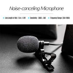 Image 5 - Lavalier Lapel Clip on Microphone Mic 3.5mm Audio Mic for Smartphone Camera Computer Laptop for Video Recording Interview