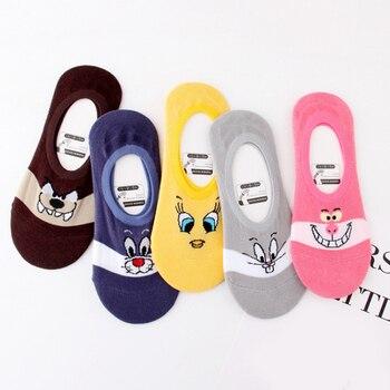 New Casual Popular Animals Socks Kawayi 1Pair Funny Cotton Cartoon Women Creative Girls High Quality Cute Female Boat