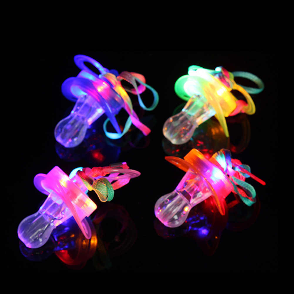 Survival Kit Glow Stick Fun Toy Nipple Bar Rave Colourful Light Pacifier Party