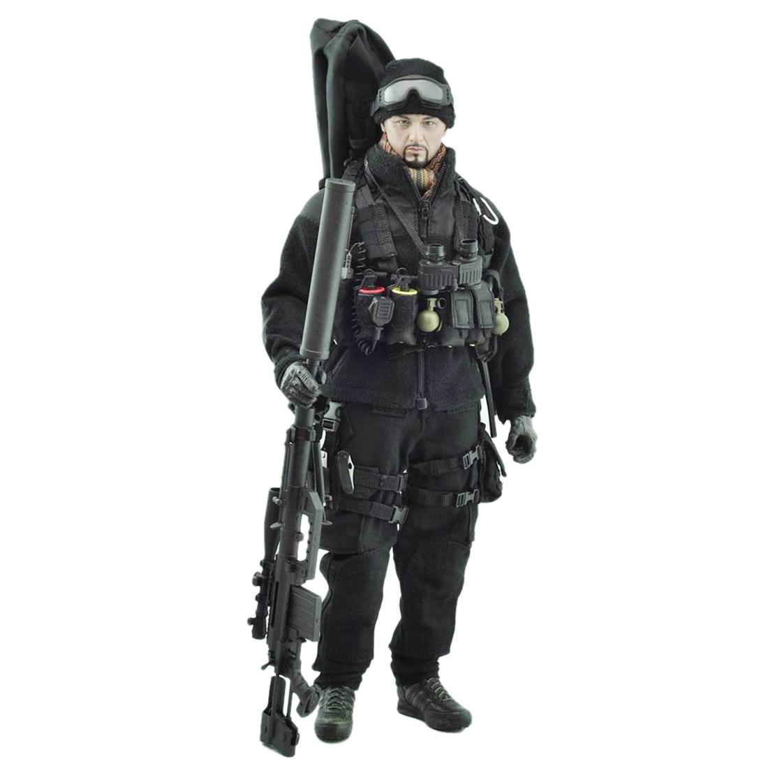 VeryHot الجندي نموذج دعوى أسود مهمة قناص موحدة المعدات ل 1/6 12 بوصة الجندي نموذج هدية (الجسم رئيس لا وشملت)-في شخصيات دمى وحركة من الألعاب والهوايات على  مجموعة 1