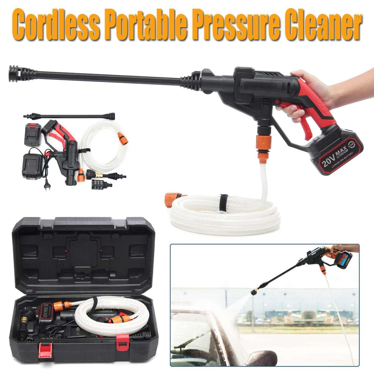 Nettoyeur d'eau Portable sans fil Li-ion 320psi 12 V/20 V/21 V nettoyeur de tuyau de nettoyeur de buse pistolet pour le lavage de voiture