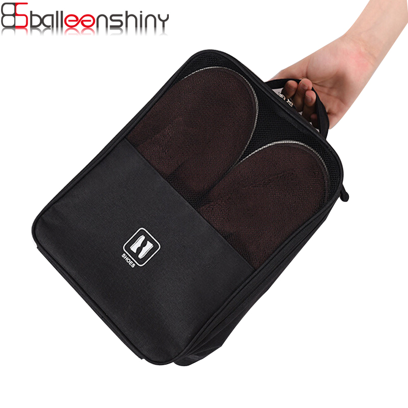 BalleenShiny Thickened Waterproof Can Hang Suitcase Shoe Bag Pack Your Shoes Bags for The Trip Storage Organizer