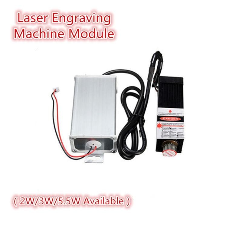 2W/3W/5.5W 450nm DIY Mini Desktop Laser Head Engraving Machine Module For CNC Engraver Printer/Cutter