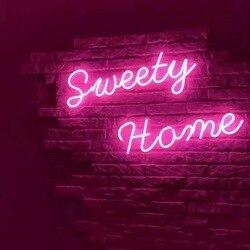 Venta al por mayor, letreros de neón de alto brillo, letreros para el hogar, diferentes letreros diseñados para cafetería, led neón, letreros a la venta
