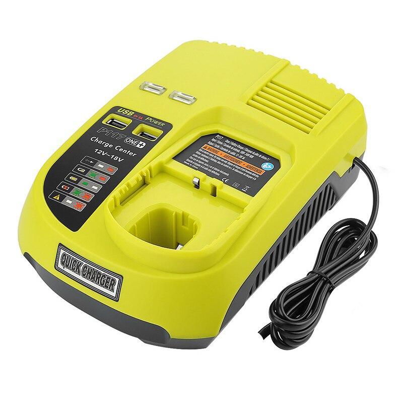 GTF 3A 12 V 14.4 V 18 V pour chargeur de batterie Rechargeable Ryobi P117 ni-cd Ni-Mh Li-Ion P110 P111 P107 P108