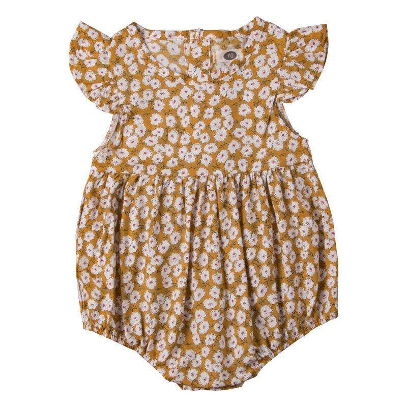 Baby Girls Floral Cotton Cute   Romper   Jumpsuit