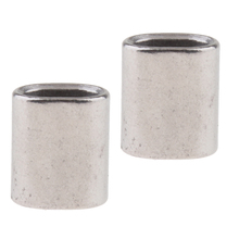 2 Packs Cable Crimps Wire Ferrules Rope 4.5mm Stainless Steel Aircraft Loop Sleeve