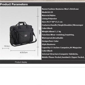 Image 5 - Volasss 2020 Klassische Aktentaschen Für Männer Handtaschen Hohe Qualität Wasserdichte Nylon Tuch Frauen Business Reise 15,6 Zoll Laptop Taschen