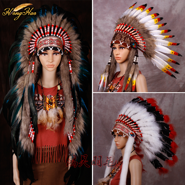 Indian Feather headdress 21inch high turquoise indian war bonnet chief heaaddress native american war bonnet costumesIndian Feather headdress 21inch high turquoise indian war bonnet chief heaaddress native american war bonnet costumes