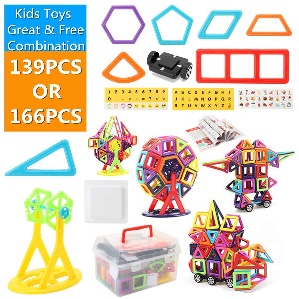 Doeltreffend Magnetische 3d Bricks Bouwstenen Tegels Educatief Speelgoed Set Bouw Model Speelgoed Accessoires Kids Geschenken 139/166 Pcs Grote Uitverkoop