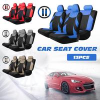13Pcs Car Seats Cover Set Auto Vehicle Cushion Protector With Steering Wheel Wrap Shoulder Belt Pads
