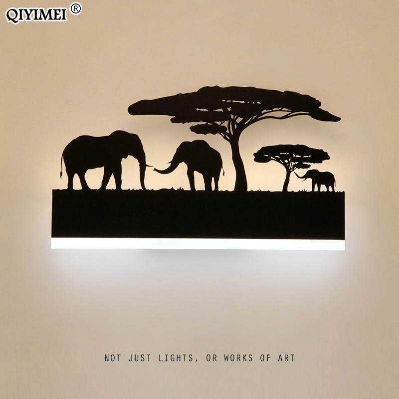 Romantic Wall lamps acrylic lampshade lighting fixture upside warm down cool for living room bedside Animal