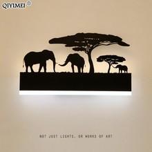 رومانسية الجدار مصابيح الاكريليك عاكس الضوء تركيبة إضاءة رأسا على عقب دافئ أسفل باردة لغرفة المعيشة السرير الحيوان أضواء AC110 260V