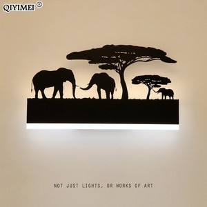 Image 1 - Romantic Wall lamps acrylic lampshade lighting fixture upside warm down cool for living room bedside Animal lights AC110 260V
