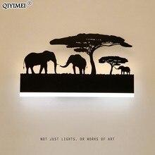 Romantyczne kinkiety akrylowy abażur oprawa oświetleniowa do góry nogami ciepłe dół fajne do salonu lampki nocne zwierząt AC110 260V