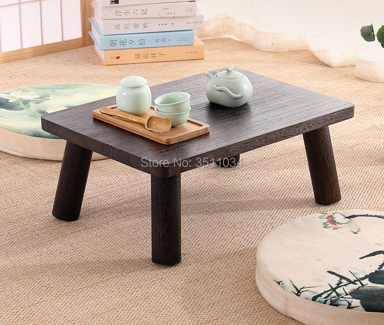 US $79.0 |Japanese Antique Small Table 50x35x20cm Paulownia Wood  Traditional Asian Furniture Living Room Low Floor Coffee Table Wooden-in  Coffee ...