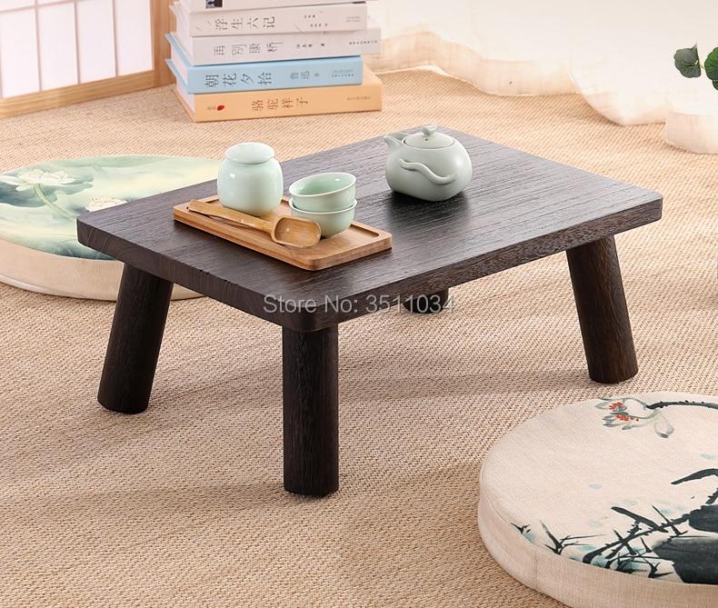 Japonais Antique Petite Table 50x35x20 cm Paulownia Bois Traditionnelle Asiatique Meubles Salon À Plancher Surbaissé Café table En Bois