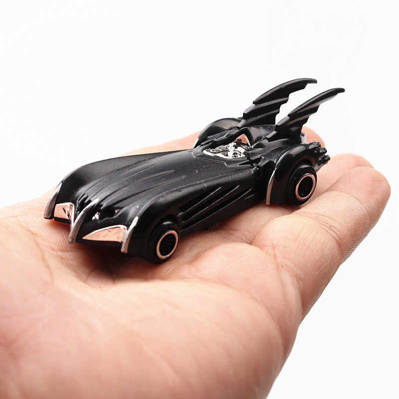 1:64 6pcs Boxed Alloy Bat Chariot Car Model Suit Kids Toys American Superhero Animation Plastic Truck Vehicle Children Car Toy