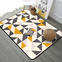 Скандинавские ковры геометрической формы для гостиной спальни кабинет прикроватный ковер современный декор витрина Прямоугольный Коврик домашнее одеяло для йоги коврик