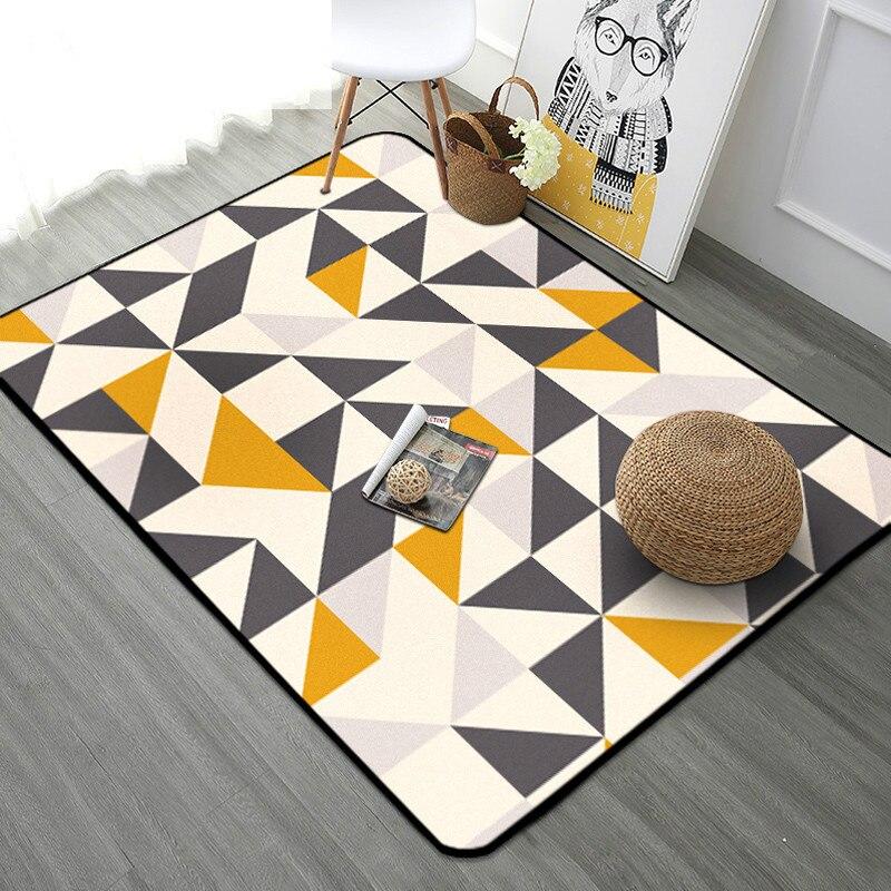 Tapis géométriques nordiques salon chambre étude chevet tapis moderne décor vitrine Rectangle tapis ménage Yoga couverture tapis