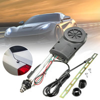 Universal Auto Car Electric Power Aerial Automatic Antenna Vehicle Mast AM FM Radio Stainless Steel Antenna Kit