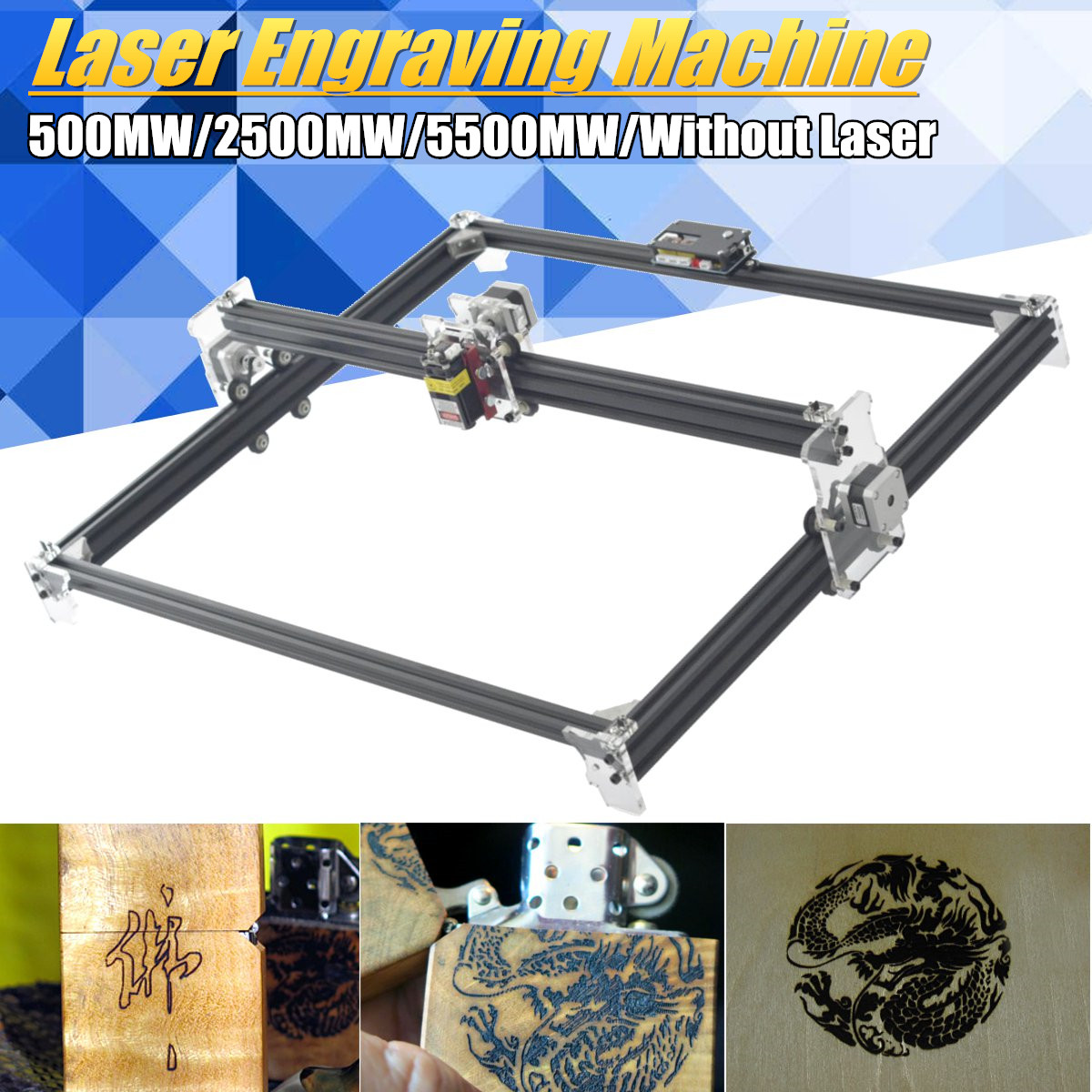 DIY Laser Engraver Machine DVP6550 CNC Laser Engraving Machine Wood Router DIY Engraver Desktop Wood Router/Cutter/Printer цены