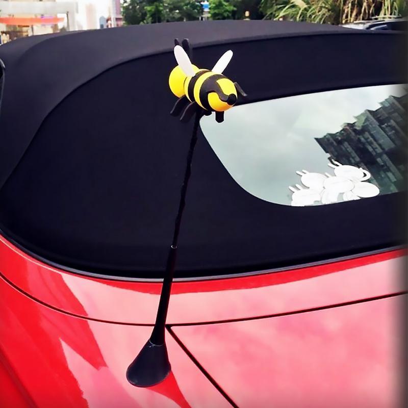 DEVIL Antenna Topper Cartoon Ball Aerial for Car Truck SUV Automotive Exterior Decor Ornament 4pcs