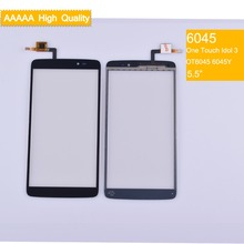 10Pcs/lot For Alcatel One Touch Idol 3 6045 OT6045 6045Y Touch Screen Touch Panel Sensor Digitizer Front Outer Glass Touchscreen lcd screen display touch panel digitizer with frame for alcatel one touch idol 3 6045 ot6045 black color free shipping