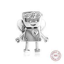 Floral Bella Bot Charm 925 Silver Jewelry