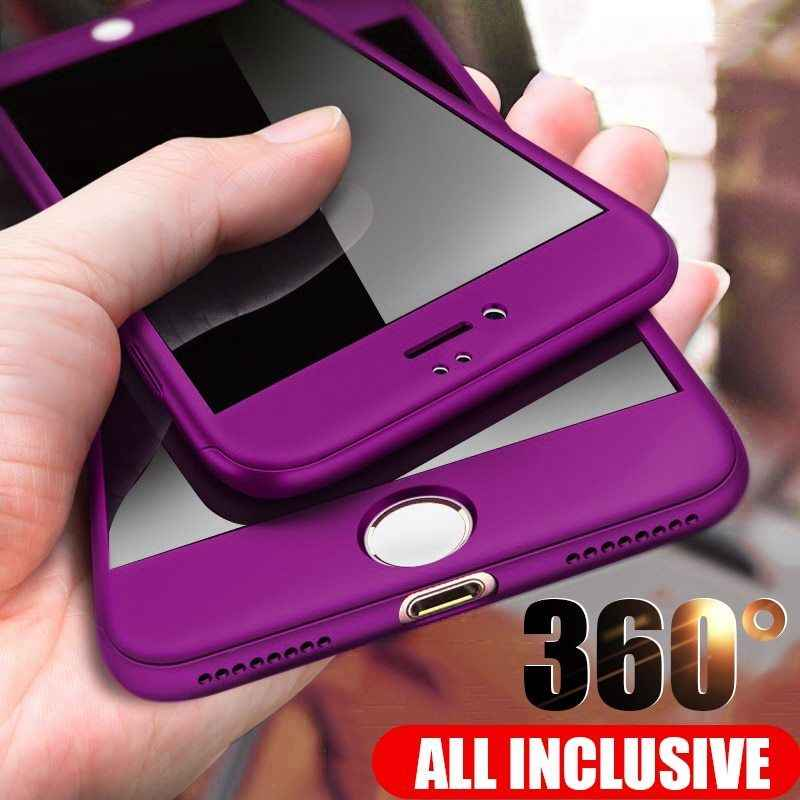 360 Full Protective Phone Case For iPhone 8 7 Plus 6 6s Case 5 5S SE X 10 Full Cover For iPhone XR Xs Max X Cases With Glass