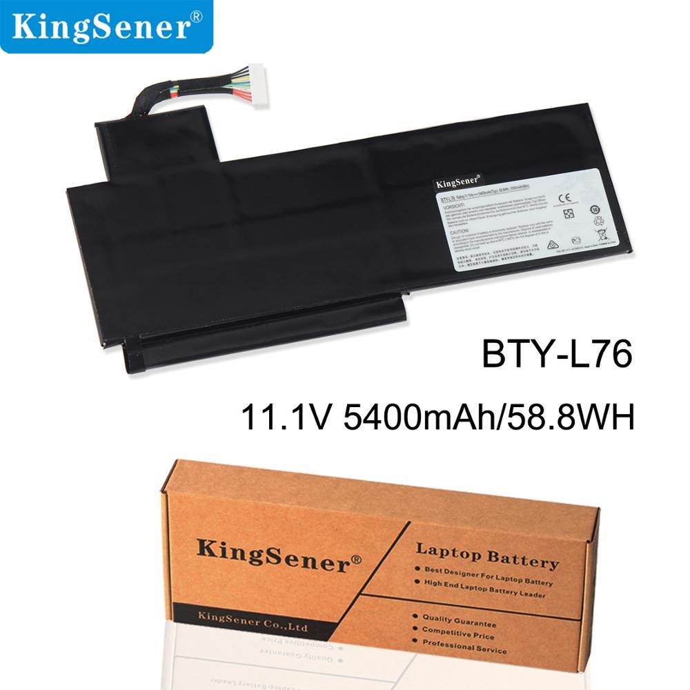 KingSener BTY-L76 Laptop Battery For MSI X7613 MD98802 GS70 MS-1771 MS-1772 MS-1774 GS72  C703 XMG 5400mAh 58.8WH KingSener BTY-L76 Laptop Battery For MSI X7613 MD98802 GS70 MS-1771 MS-1772 MS-1774 GS72  C703 XMG 5400mAh 58.8WH