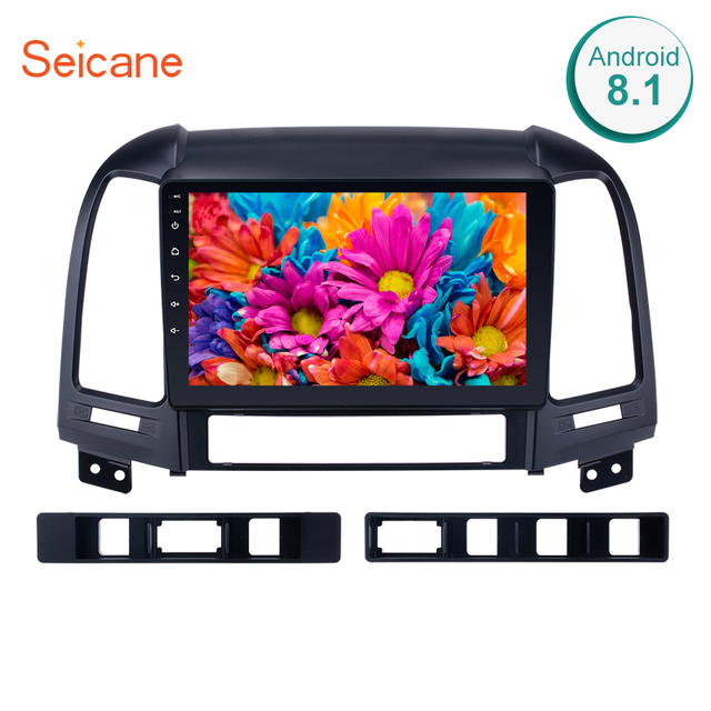 "Seicane Car Multimedia Palyer For 2005-2012 HYUNDAI SANTA FE 9"" 2din Android 8.1/7.1 Bluetooth HD 1024*600 Touchscreen Car Radio"