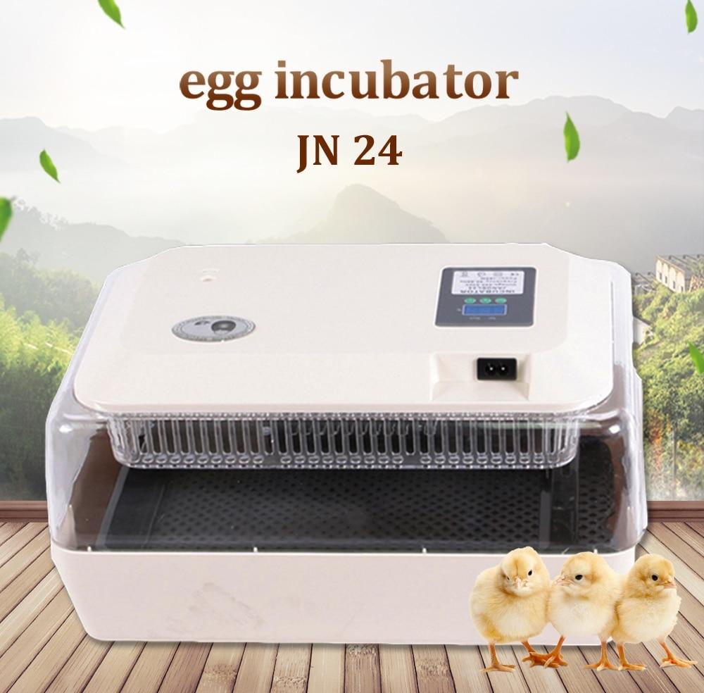Mini 24 Oeuf Incubateur Incubateur Couveuse Numérique Température Volaille Oeuf Incubateur D'incubation de poulet à chair Oeufs Oeuf Écloserie Machine