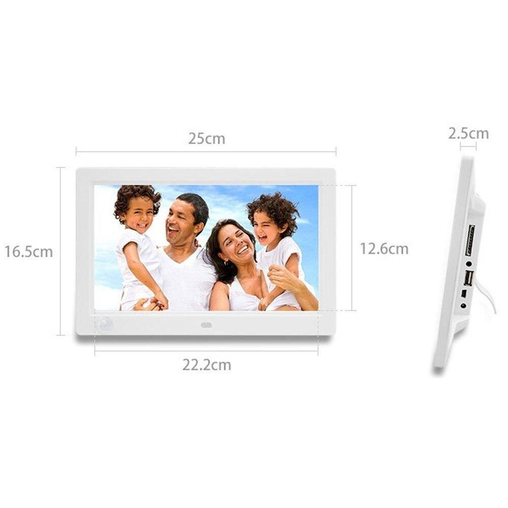 Nouveau 10 pouces écran LED rétro-éclairage HD 1024*600 cadre Photo numérique Album électronique Photo musique film pleine fonction bon cadeau - 5