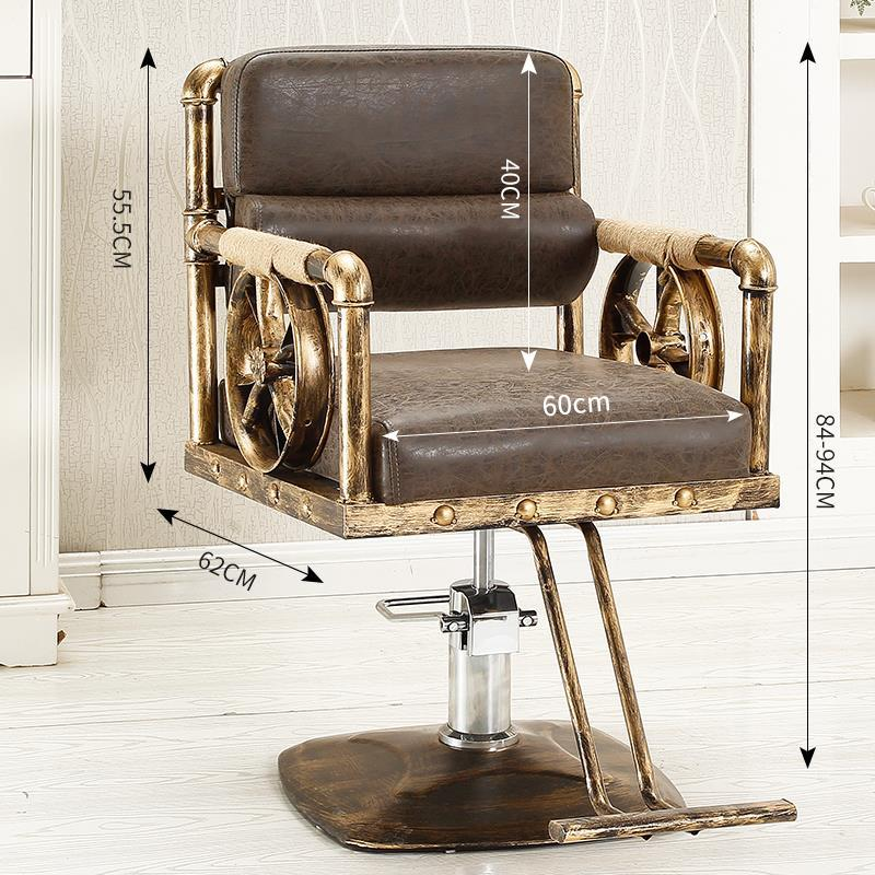 Furniture Stoelen Fauteuil Mueble Sedie Makeup Stoel Hair Silla Barbero Stuhl Shop Cadeira Barbearia Salon Barber Chair in Barber Chairs from Furniture