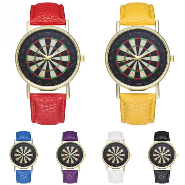 Zhoulianfa Vintage Darts Dial Alloy Quartz Couple Watch PU Strap Wristwatch