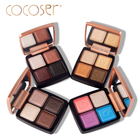 Cocoser eyeshadow pallete Bright Makeup Eyeshadow mineral eyeshadow pigments 4 colors/sets high quality