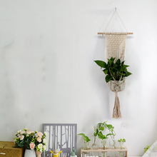 New Braided Knitting Macrame Tapestry Plant Flowerpot Holder Basket Hanging Home New