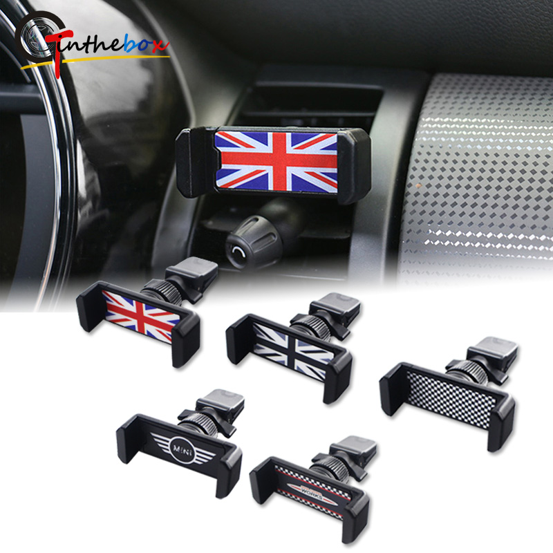 Gtinthebox Universal For Mini Cooper Accessories Car Phone Holder Air Vent Phone Mount R50 R53 R55 R56 R60 R61 F54 F55 F56 F60